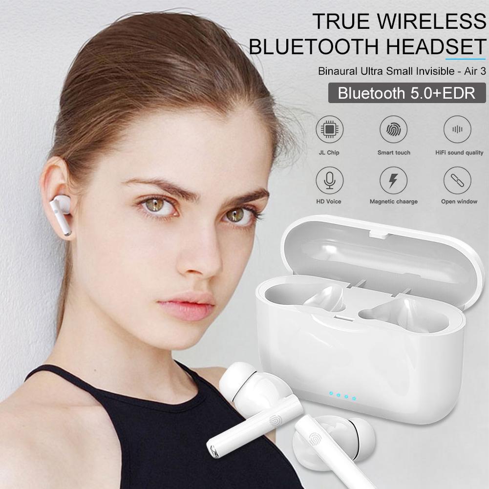 Sem fio bluetooth fone de ouvido inteligente toque fones blackpods foned pro 3 i900000 tws com caso carregamento