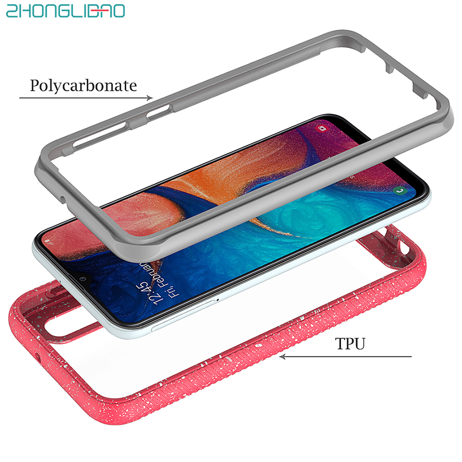 Anti Knock <font><b>Case</b></font> for <font><b>Samsung</b></font> <font><b>Galaxy</b></font> A20e A10e A50 Note 10 <font><b>S10</b></font> S9 Plus S10e Silicone Armor Clear Back Cover Heavy Duty Protection image