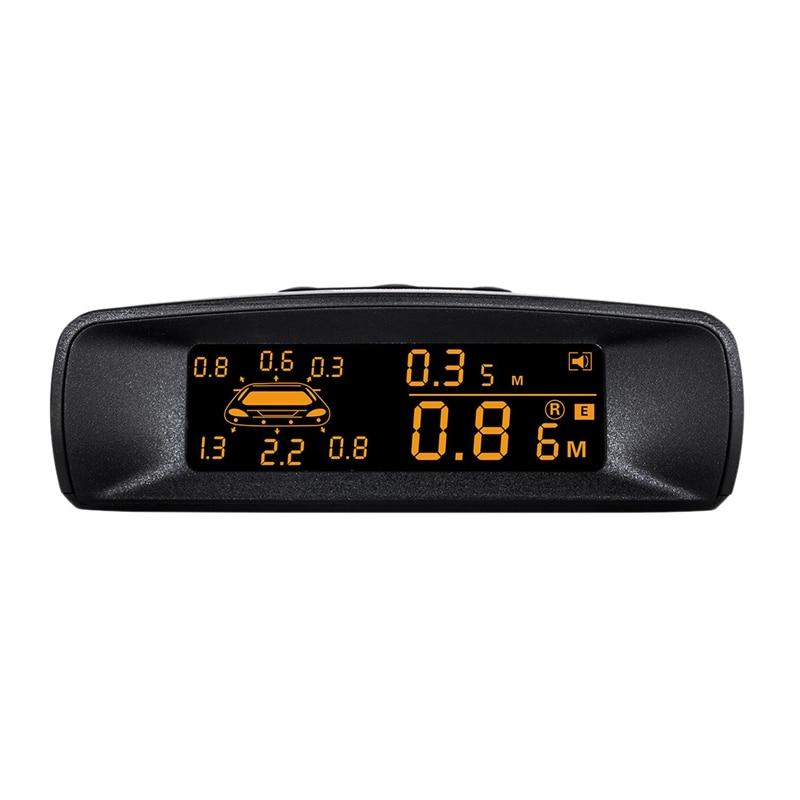 Zestaw czujnika parkowania LCD do samochodu, widoczny pełny cyfrowy wyświetlacz odległości cofania r-adar z 8 czujnikami pasuje wszystkie samochody