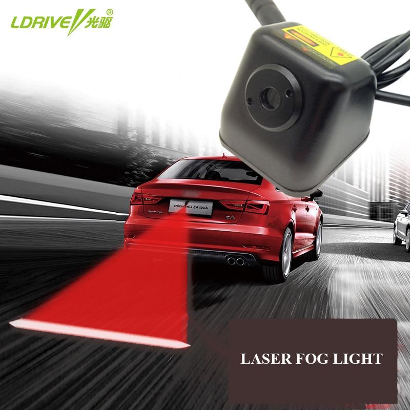 Автомобильный лазерный задний фонарь с защитой от столкновений, 12 В, светодиодный автомобильный противотуманный фонарь, автомобильная Тор...