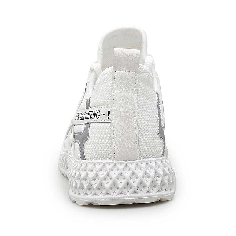 แฟชั่นผู้ชายใหม่รองเท้าสบายๆตาข่าย Breathable รองเท้าผ้าใบผู้ชาย LACE-up รองเท้าผู้ชายแบนน้ำหนักเบาขนาดใหญ่รองเท้าร้อนขาย