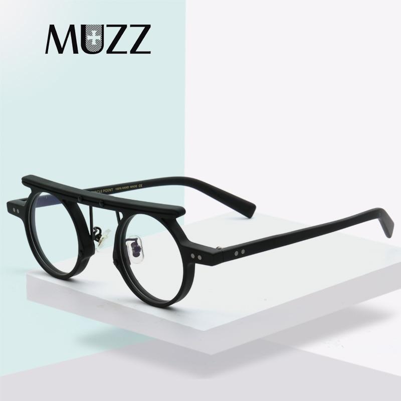 Gafas redondas de acetato para hipermetropía para hombre, monturas Ópticas Clásicas, gafas graduadas con montura 2021, gafas Retro de diseño japonés