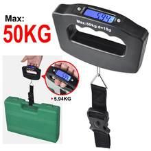 50kg balança de bagagem eletrônica portátil display lcd viagens balança de bagagem digital pendurado backlight balance pesando