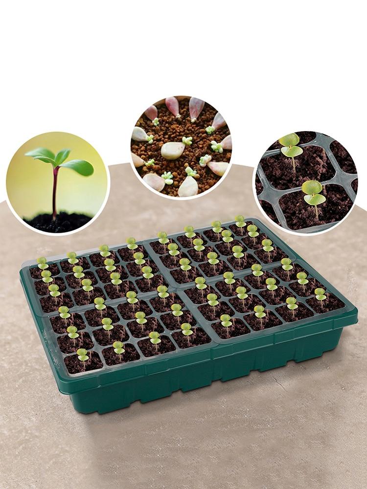 Торф горшки растение горшок органический рассада горшки сад растение горшок лоток 48 отверстие органический лоток рассада лоток для сада двора рассады лоток