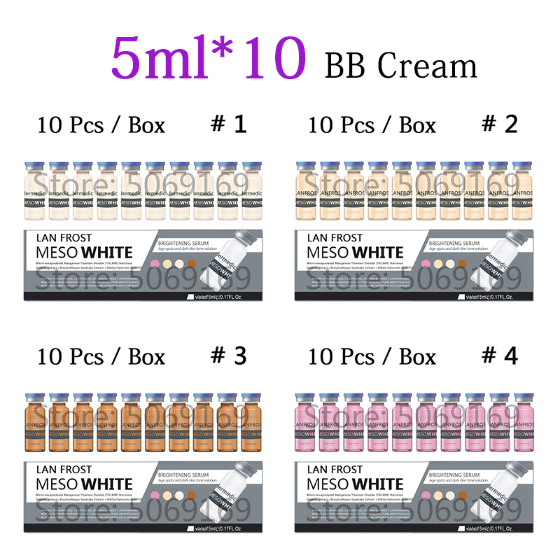 5ml BB Cream Glow Mesowhite Ampoule Starter Kit Add Foundation Niacinamide For Skin Lightening Wrinkle Brightening Cream 10pcs