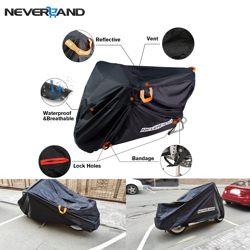 Indoor Outdoor Full Motorcycle Scooter Motorbike Cover Anti Protective Covers Coats Water Dust Proof UV Sun Rain Snow 210D D20
