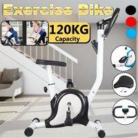 داخلي دورة ممارسة الدراجة الثابتة مع شاشات كريستال بلورية القلب اللياقة البدنية الصالة الرياضية الدراجات آلة تجريب التدريب 265LB ماكس الوزن
