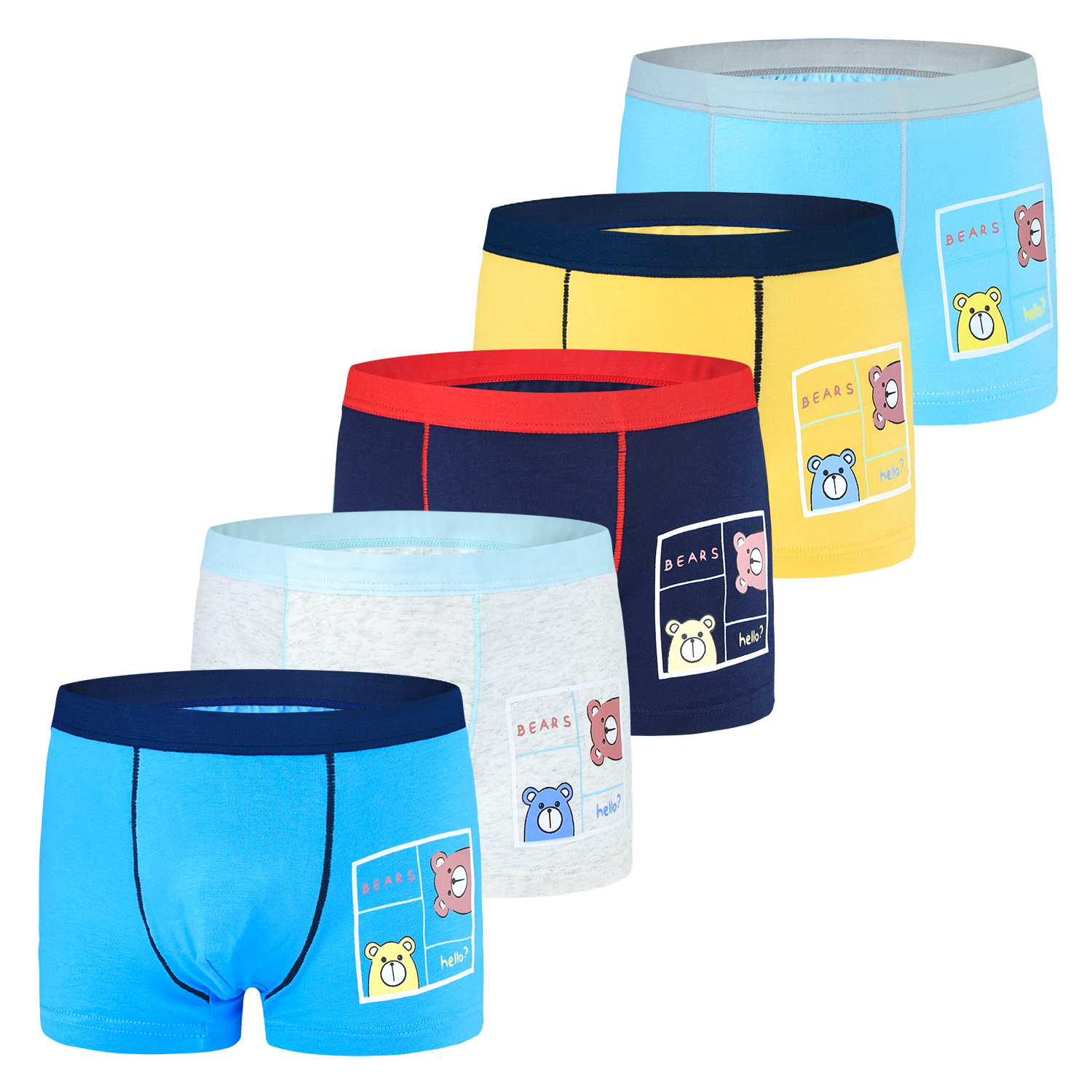 5 Pcs/lot Boys Underwear For Kid Boxer Briefs Teenager Shorts Children Cartoon Pattern Panties For 2-9Years Old