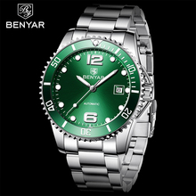 2019 BENYAR Top marque hommes montre mécanique automatique de mode de luxe en acier inoxydable mâle horloge