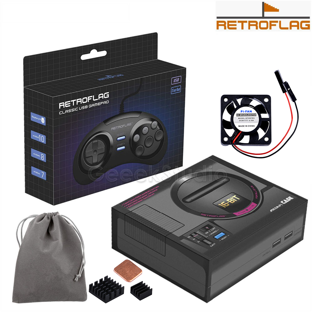 In Stock! Original Retroflag MEGAPi Case / Game Controller Functional Button For Raspberry Pi 3 B Plus (3B+) / 3B / 2B