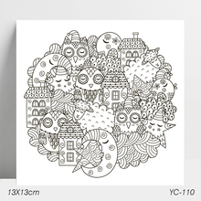 AZSG Moon House Clear Stamps/Stamp/For Scrapooking/Card Making/Silicone Stamps/Decoration  Crafts