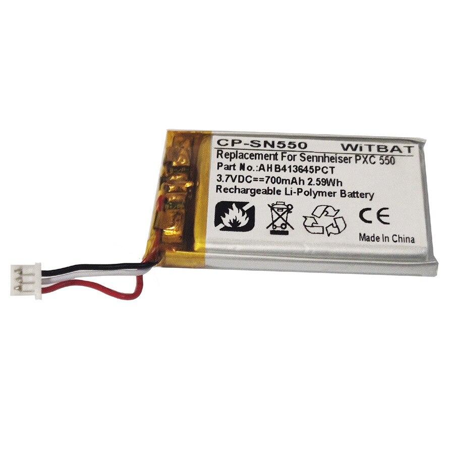 TTVXO 700mAh Battery For  Sennheiser PXC 550,AHB413645PCT