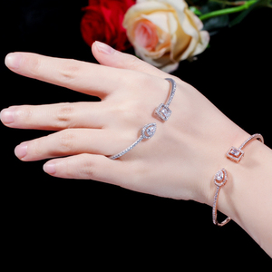 Image 5 - ERLUER Cuff adjustable bracelets for women jewelry wholesale fashion Zircon charm Crystal Ladies Hand Bracelet Gift lover girl