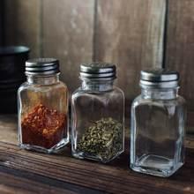 Botella de vidrio para condimentos, utensilios para hornear pasteles, Retro, Vintage, nórdico, accesorios de fotografía