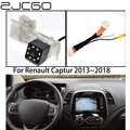 ZJCGO Автомобильная камера заднего вида для парковки, обновленная Оригинальная Автомобильная камера для Renault Captur 2013 2014 2015 2016 2017 2018
