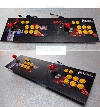 Zero Delay Arcade USB джойстик 2 игрока, Боевая игровая консоль с обычными 8 способами джойстика, кнопка блокировки для ПК MAME Android