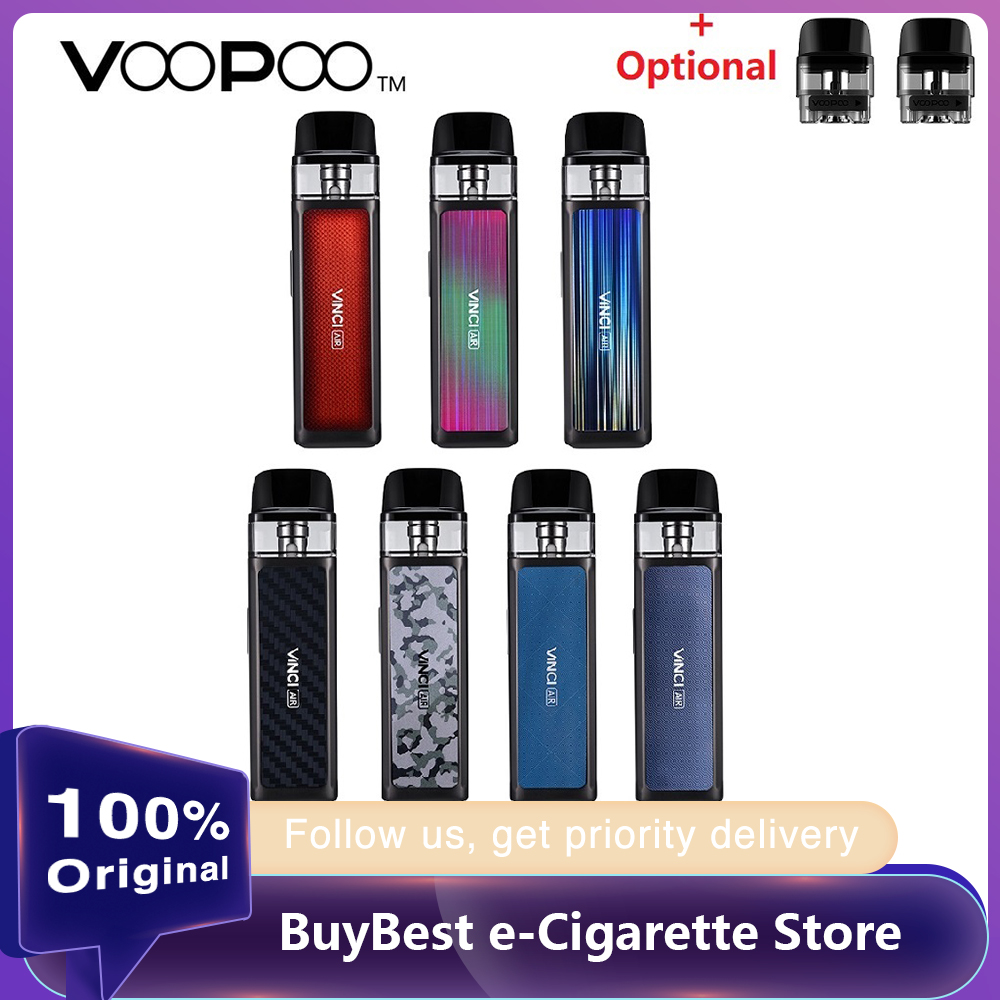 New Original VOOPOO VINCI AIR Pod Kit With 900mAh Battery 4ml Pod System & PnP Coil MTL Vape Vaporizer Vs Vinci X / Target PM80