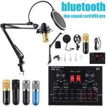 Mezclador de micrófono profesional BM800, micrófono para dj, condensador, USB, inalámbrico, Karaoke, KTV, grabación profesional, tarjeta de sonido con Bluetooth en vivo