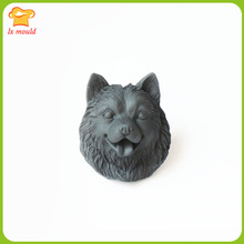 2019 new Alaska dog mold head silicone chocolate fondant baking tools plaster