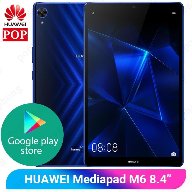 Huawei-Tablet gamer Mediapad M6 8,4 polegadas original, PC Kirin980 octa-core, Android 9.0 6100mAh, para Google Play