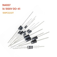 100PCS/LOT 1N4007 1A 1000V  4007  DO-41 Rectifier Diode IN4007 DIP 100%NEW & High quality