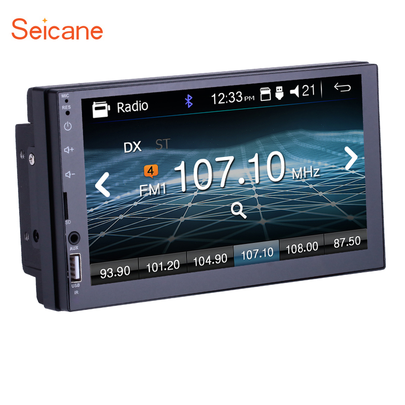 Seicane Universal <font><b>2DIN</b></font> 7 inch Touchscreen Car Video MP5 Player Auto Stereo Radio Bluetooth support Steering Wheel Control Camera image