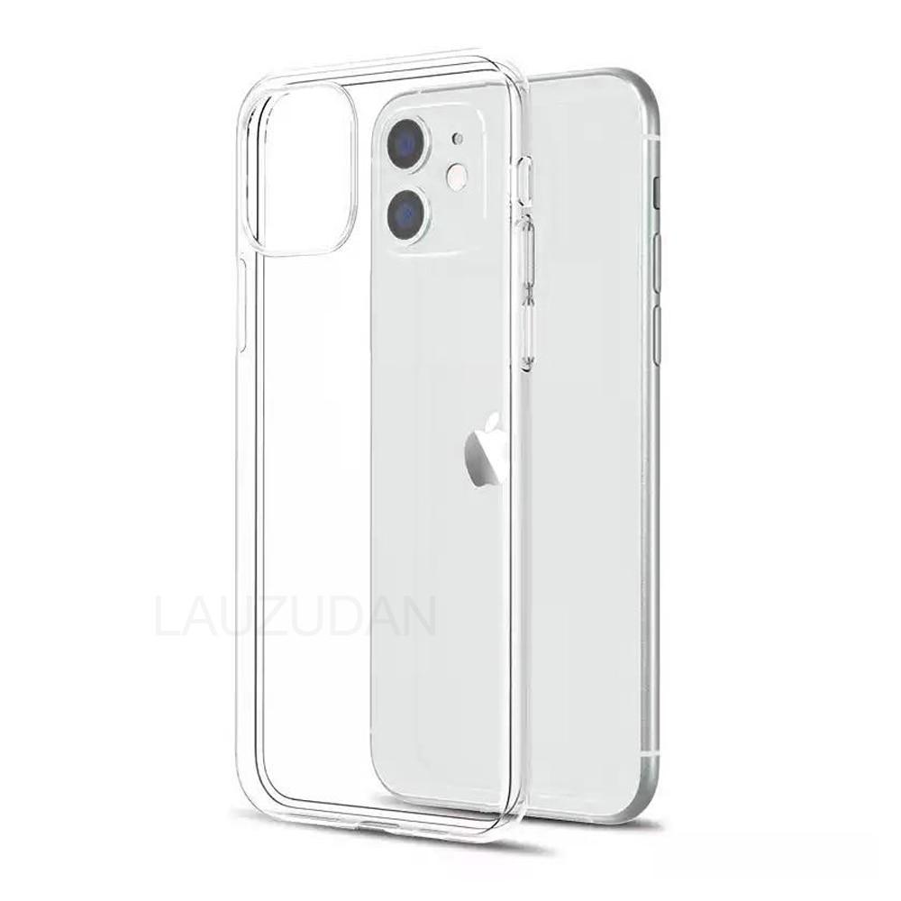 Caso claro do telefone para o iphone 11 7 8 xr caso silicone macio capa para o iphone 11 12 mini pro xs max x 8 7 6s mais 5 se 2020 xr