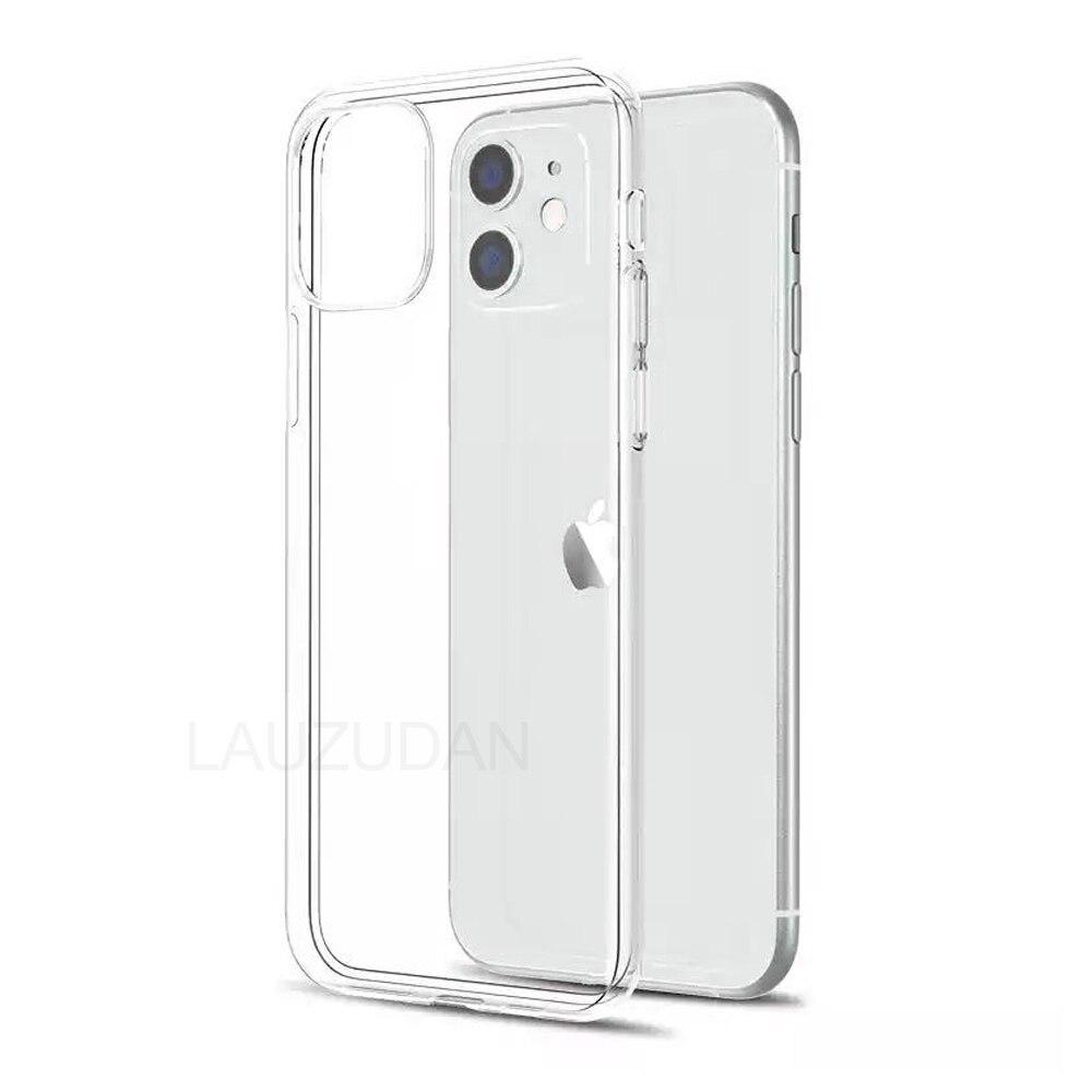 Прозрачный чехол для телефона iPhone 11 7 8 XR, силиконовый мягкий чехол для iPhone 11 12 Mini Pro XS Max X 8 7 6s Plus 5 SE 2020 XR, чехол