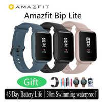 International version Amazfit Bip Lite Smart Watch 45-Day Battery Life 3ATM Water-resistance Water-resistance huami Smartwatch