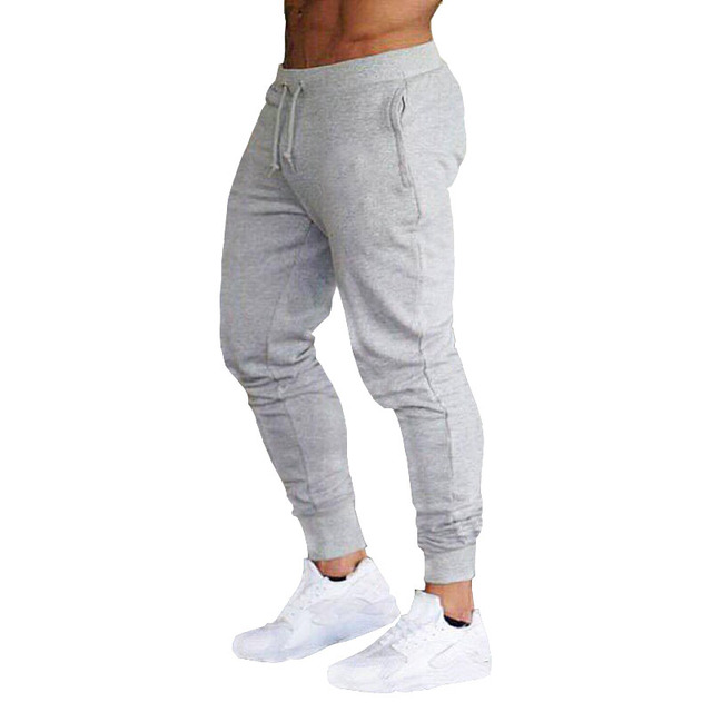 2019 New Men Joggers Brand Male Trousers Casual Pants Sweatpants Men Gym Muscle Cotton Fitness Workout hip hop Elastic Pants 4