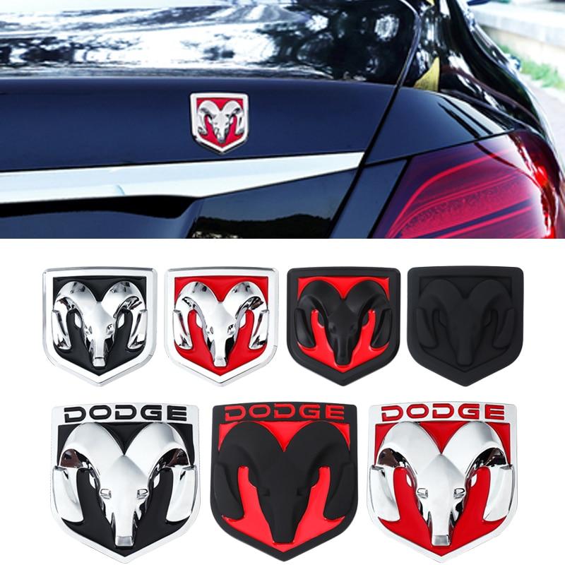 3d Ram Metal Badge For Dodge RAM 1500 2500 3500 Challenger Charger Durango Nitro Journey Caliber Sticker Car Exterior Decoration
