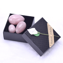 Yoni Eggs Rose Quartz Drilled Jade Eggs for Kegel Exercise Tightening Vaginal Muscle Ben Wa Ball Sex Toys for Women Body Massage wireless remote waterproof ben wa ball jump eggs kegel vaginal tight exercise smart love ball vibrating egg sex toys for women