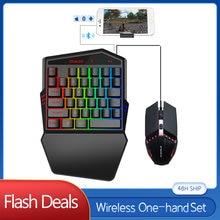 Набор для клавиатуры и мыши одной руки 35 клавиш rgb подсветка