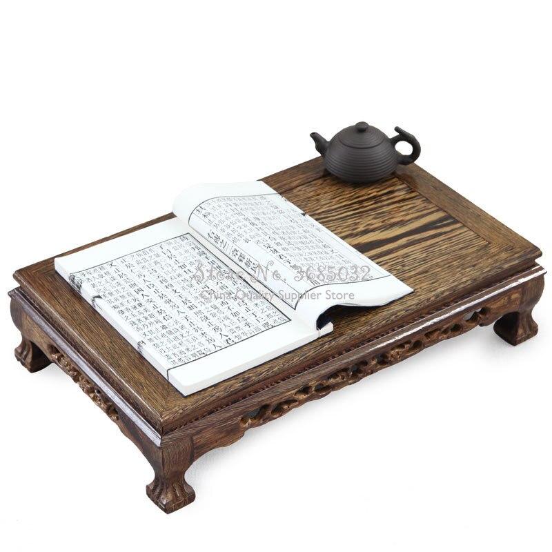 Aile de poulet bois rectangulaire petite table à thé fenêtre flottante table à thé style chinois rouge table en bois tatami table basse