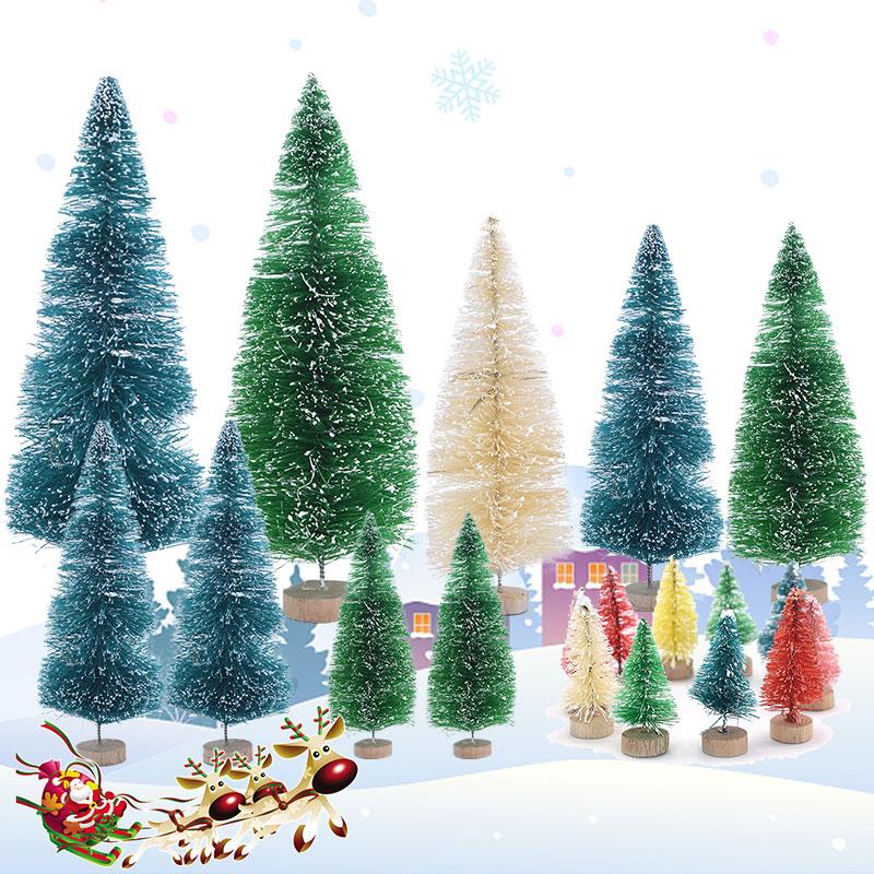 8Pcs Christmas Miniature Ornaments Delicate Desktop Decoration Crafts for Home