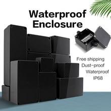 Caixa preta ao ar livre à prova dwaterproof água caixa de plástico eletrônico projeto caso instrumento caixa de junção à prova dwaterproof água habitação