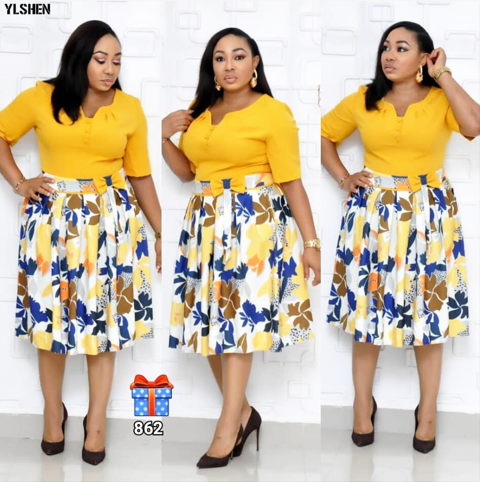 African Dresses For Women Print African Dress Africa Clothing Robe Africaine Femme 2019 Plus Size Ankara Dresses Ladies Clothes