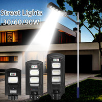 30/60/90W светодиодный настенный светильник IP66 светодиодный уличный фонарь на солнечной световой радар motion 2 в 1 постоянно яркие индукционные с...