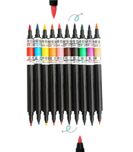 10 cores duplo-ended pigmento comestível caneta diy cookies macaron fondant bolo de colorir alimentos canetas decoração do bolo ferramentas de cozimento