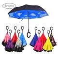 зонт мужской обратный зонтик женский дождевой двухслойный перевернутый зонтик для защиты от ветра дождь автомобиль перевернутые зонтики д...