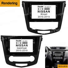 2/1Din coche DVD marco adaptador de conexión de audio Dash ajuste Panel facial 10,1 pulgadas para NISSAN Qashqai Xtrail 2015-2019doble reproductor de Radio