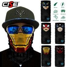 Deadpool Бесшовный шарф для шеи гетры Бандана с изображением масок для лица для мотоцикла велосипеда Велоспорт наружные шарфы Защита от Солнца Ветрозащитный головной щит