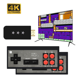 USB Wireless Handheld TV Video Game Console Build In 568 Classic 8 Bit Game mini Console Dual Gamepad HDMI Output