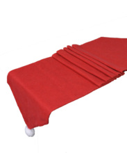 1PCS Christmas Table Runner Mat Tablecloth Flag Home Party Decor Red Runners Weding Decoration chemin de tabl