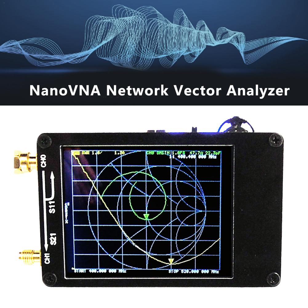 NanoVNA 50KHz-900MHz Vector Network Analyzer Digital Touching Screen Shortwave MF HF VHF UHF Antenna Analyzer Standing Wave