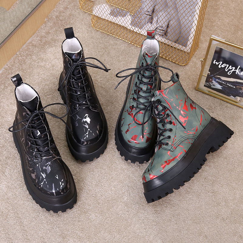 Brilliant Women's Autumn Winter Shoe Boots 2020 New Leather Ladies Short Boots Wool Warm Non-slip Student Women's Ankle Boots Orders Are Welcome.