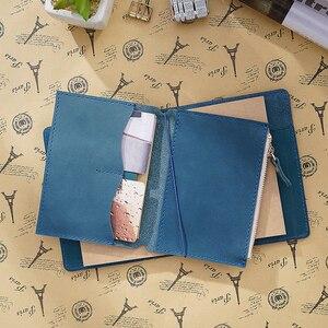 Image 3 - Porta cartões em couro legítimo, bolsa com zíper para guardar cartões, acessórios para notebook, artesanal, planejador de sketchbook, 100%