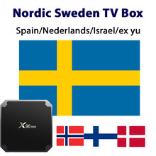 IPTV box Netherlands M3U 4K Spain UK Norway Sweden Nodic Europe for Android Box Smart TV PC LINUX no app or channels included(China)