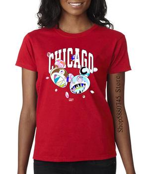Complexon Chicago Takashi Murakami 2021 lipiec 2019 Logo ekskluzywna koszulka tanie i dobre opinie PEDRAZA COTTON Krótki Suknem Cartoon Na co dzień O-neck
