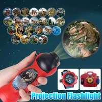 Dinosaur Spider Projector Toy Flashlight Sleeping History Toy Early Education Model Animated Animal Landslide Baby
